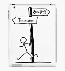 "Funny ""Toronto vs Reality"" Signpost Themed Design iPad Case/Skin"