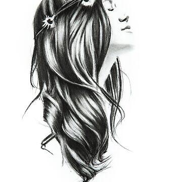 flower power girl with flowers in her hair by stoekenbroek