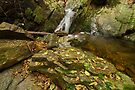 Autumn waterfall by Patrick Morand
