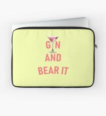 Gin and Bear It Girly Humor Pink Gin  Laptop Sleeve