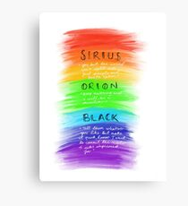 Sirius Black; Pride Canvas Print