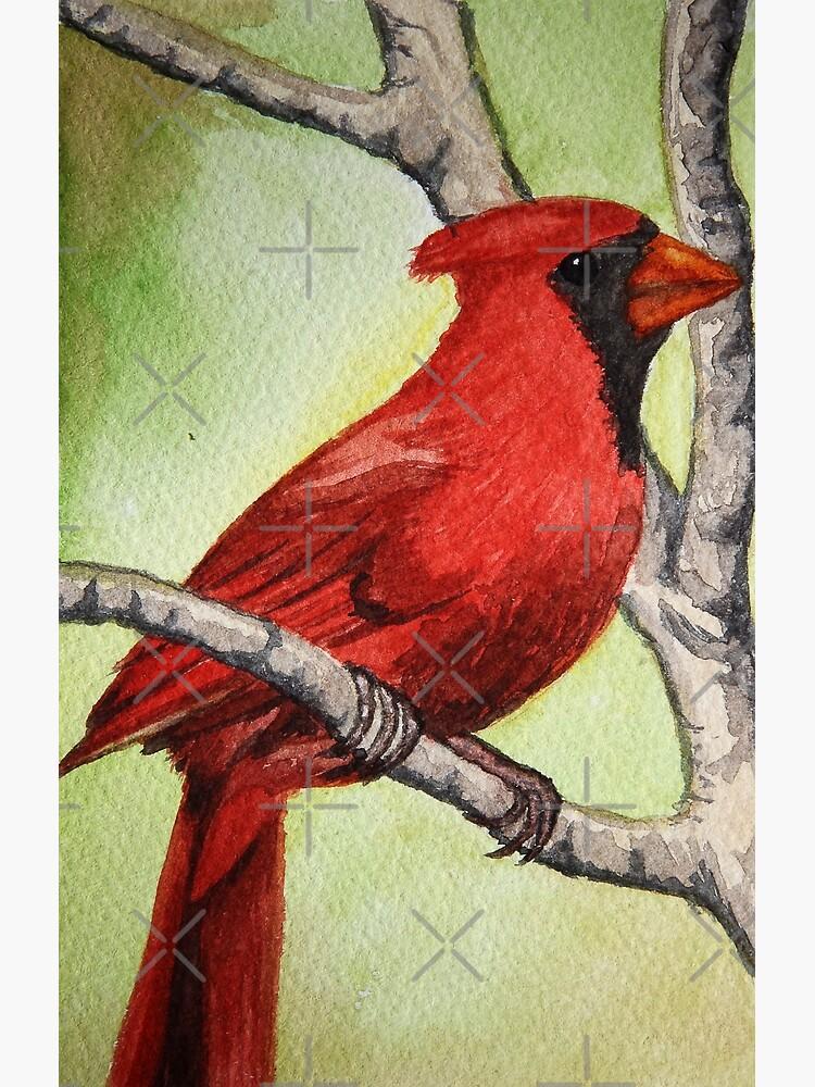 Red Bird Painting Bird Wallpaper