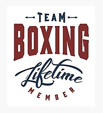 Team Boxing Photographic Print