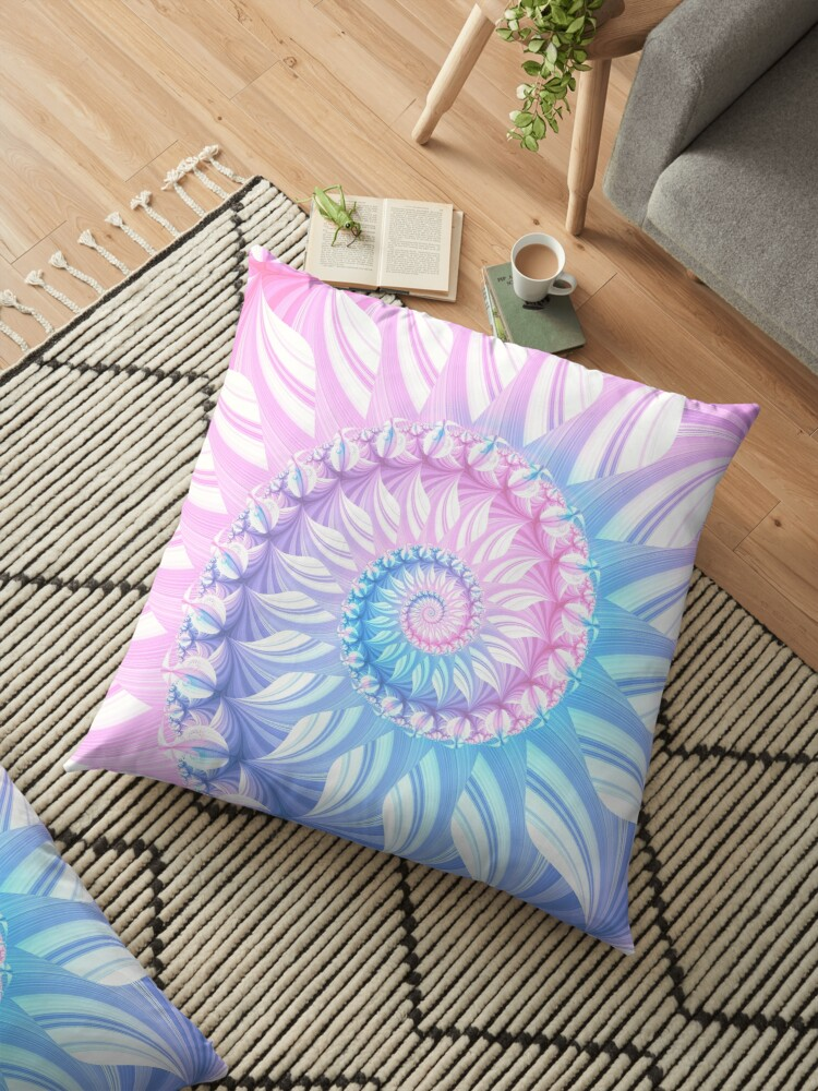 Striped Pastel Spiral in Pink, Blue and Purple by Kelly Dietrich