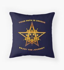 Your Path is Unique, Enjoy the Journey Throw Pillow