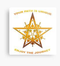 Your Path is Unique, Enjoy the Journey Metal Print