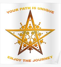 Your Path is Unique, Enjoy the Journey Poster