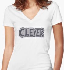 Clever Women's Fitted V-Neck T-Shirt