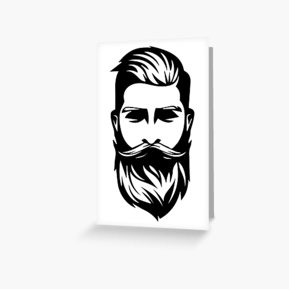 beard logo Greeting Card