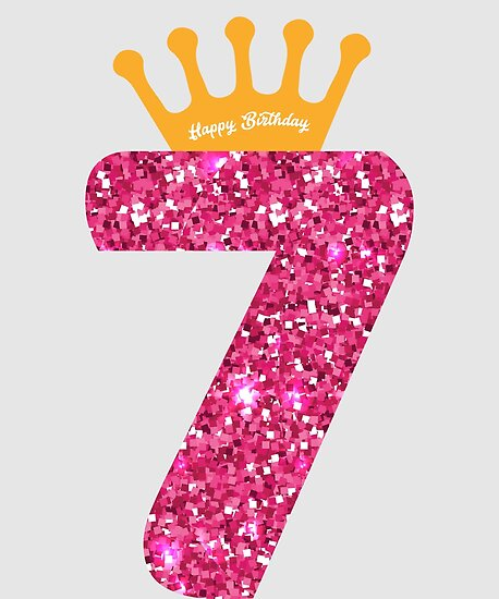 """""""7th Queens Crow Happy Birthday For Girls"""" Poster By"""