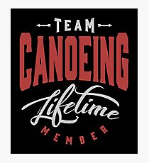 Team Canoeing Photographic Print