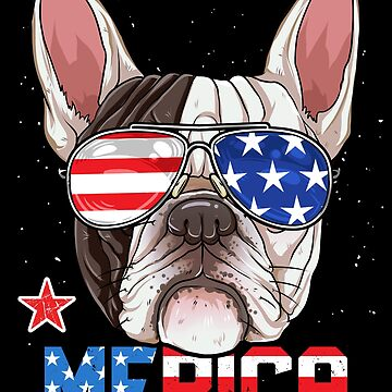 French Bulldog Merica 4th of July T shirt Men Boys Dog Puppy by LiqueGifts