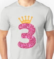 3rd Queens Crow Happy Birthday for Girls Unisex T-Shirt