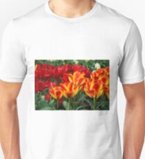 Red yellow Tulips  Unisex T-Shirt