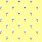 Kawaii melting popsicle pattern by EuGeniaArt