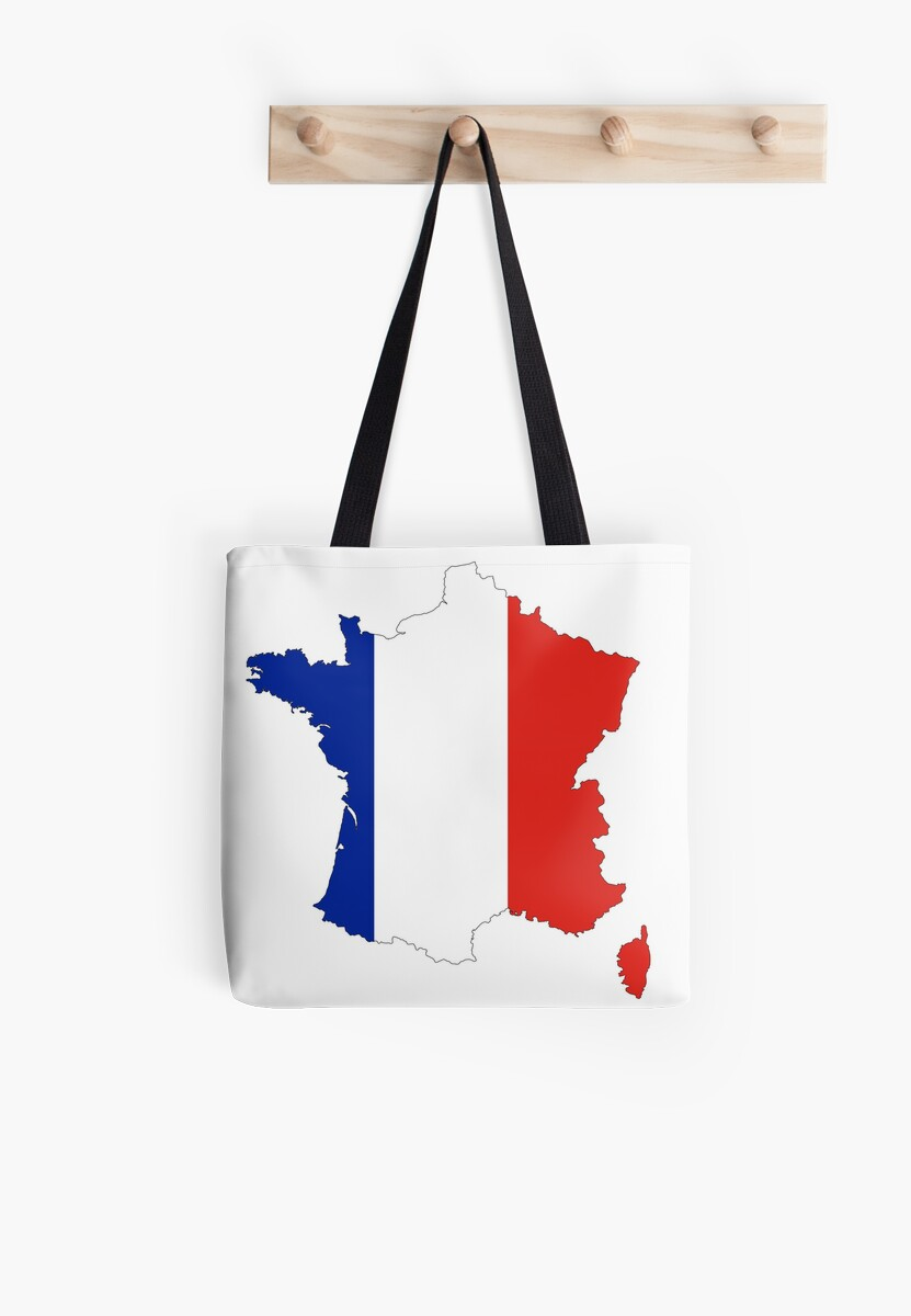 France Map Flag.France Map Flag Tote Bags By Cacaodesigns Redbubble