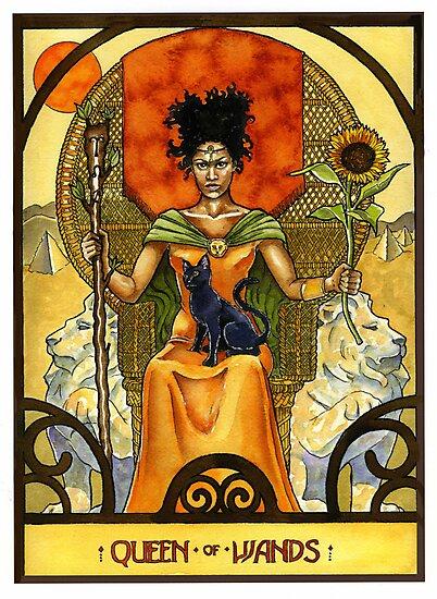 Queen of Wands by WinonaCookie