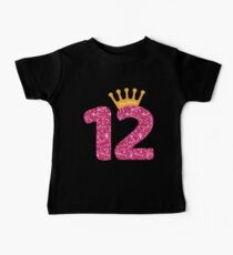 12th Queens Crow Happy Birthday for Girls Baby Tee
