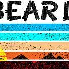 Big Bear Lake California Mountains Vintage Sunset Grunge Distressed 70's by MyHandmadeSigns