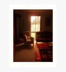 still life - our loungeroom Art Print