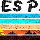 Estes Park Colorado Mountains Vintage Sunset Grunge Distressed 70's by MyHandmadeSigns