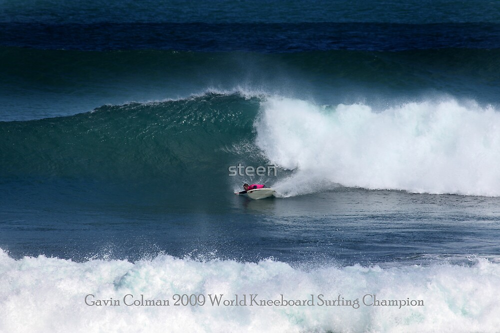Gavin Colman 2009 World kneeboard Surfing Champion by steen