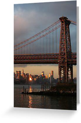 Williamsburg Bridge Sunset, Brooklyn, New York by Jane McDougall
