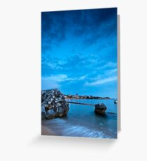 Stoupa in blue Greeting Card
