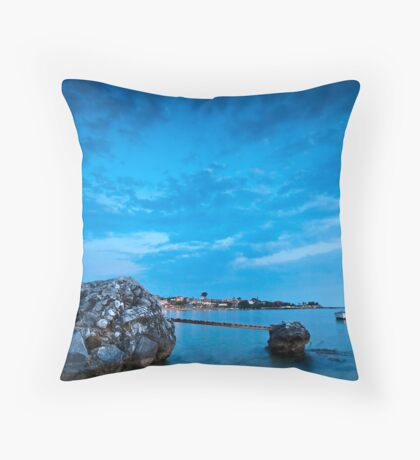 Stoupa in blue Throw Pillow