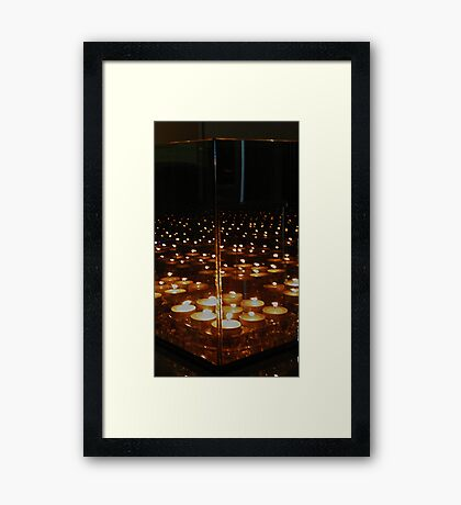 Marching Candle Mirror Reflections ... Series 1 Framed Print