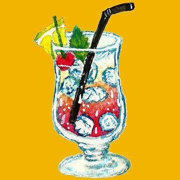Watercolor Summer Cocktail  by shashira