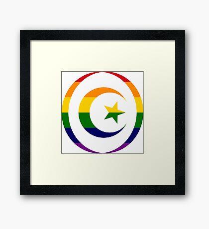 Muslim (Rainbow) Framed Print