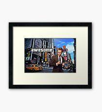 Barney Stinson - Awesome Framed Print