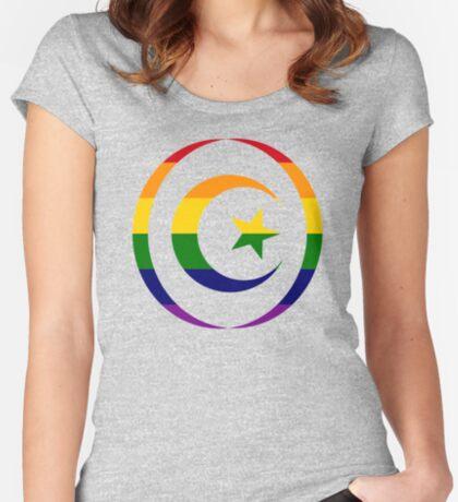Muslim (Rainbow) Women's Fitted Scoop T-Shirt