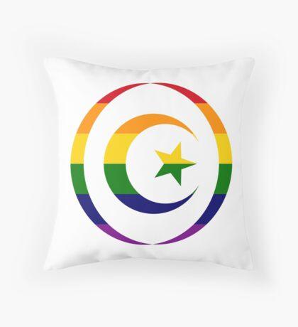 Muslim (Rainbow) Throw Pillow