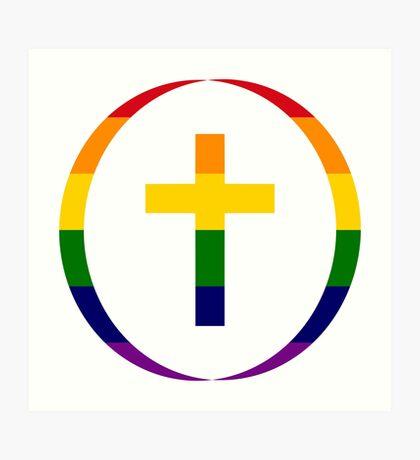 Christian (Rainbow) Art Print