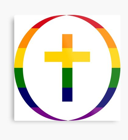 Christian (Rainbow) Metal Print