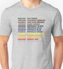 Camiseta ajustada Pequeños colores felices