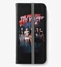 Roter Samt iPhone Flip-Case/Hülle/Klebefolie