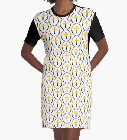 Christian (Rainbow) Graphic T-Shirt Dress
