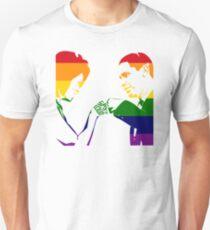 SAY IT LOUD: Obama Fist Bump (Rainbow) Unisex T-Shirt