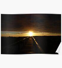 Blinding Sunrise Poster