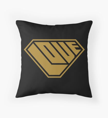 Love SuperEmpowered (Gold) Throw Pillow