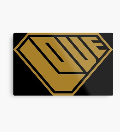 Love SuperEmpowered (Gold) Metal Print