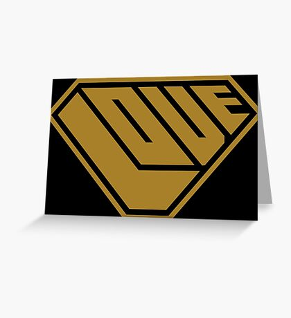 Love SuperEmpowered (Gold) Greeting Card