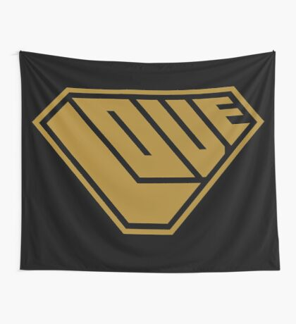 Love SuperEmpowered (Gold) Wall Tapestry
