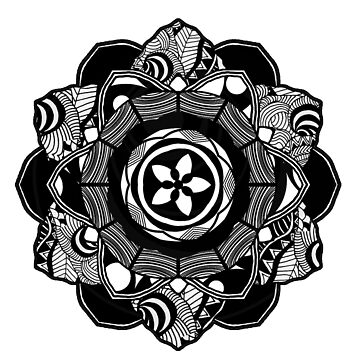 Black Spirit Mandala by mayuskimbe