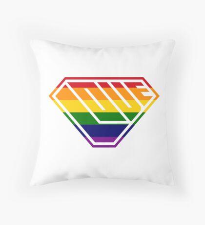 Love SuperEmpowered (Rainbow) Throw Pillow