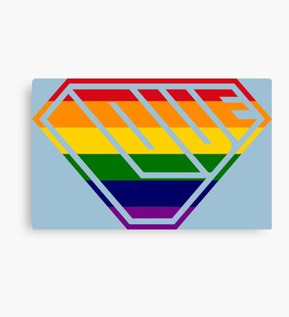 Love SuperEmpowered (Rainbow) Canvas Print