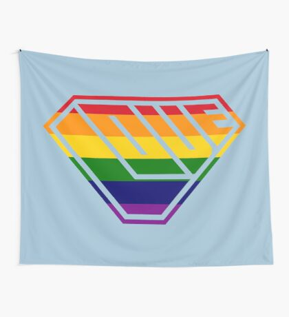 Love SuperEmpowered (Rainbow) Wall Tapestry